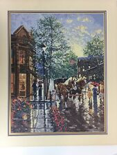 """April In Old Aspen Heritage 6013 Finished Needlepoint Picture 18x22"""" Victorian"""