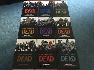 **Autographed** The Walking Dead Hardcover Lot (1-9)