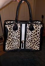 L.A.M.B. Gwen Stefani Large Devon Tote Bag Handbag  leapord print