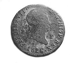 More details for 1826 spanish coin of ferdinand vii. - 2 maravedis   #319
