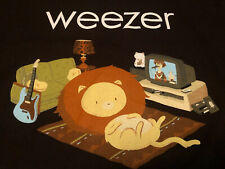 Rare Vintage New Weezer Lion On The Floor Shirt Rock Concert Tour Emo Nerd Music