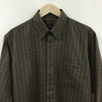NEW Mens Large 40 CANALI Plaid Dress Shirt Made in Italy -SUPERB-  8c