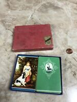 vintage playing cards Royal Soldier Woman With Dog 2 Decks Imperial Games