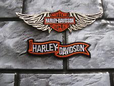 2x Aufnäher Patch Motorcycles Harley-Davidson Racing Motorradsport Biker Race GT