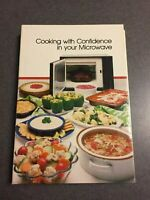 1980 Cooking With Confidence In Your Microwave Cookbook Spiral Hardcover