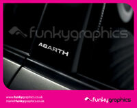 FIAT 500 ABARTH STRAIGHT PILLAR STICKERS GRAPHICS DECALS x3 GLOSS SILVER