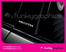 FIAT 500 ABARTH STRAIGHT PILLAR STICKERS GRAPHICS DECALS x3 GLOSS SILVER