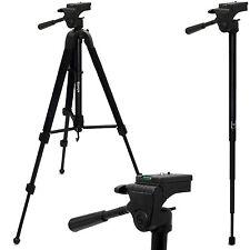 150cm Trépied & Monopode Combiné Portable pour Caméra Appareil Photo Réflex DSLR