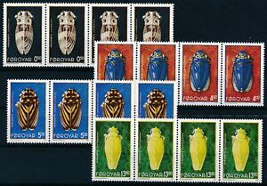 [P15534] Faroe 1995 : Insects - 4x Good Set Very Fine MNH Stamps in Strips