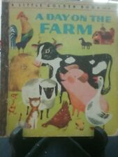 A DAY ON THE FARM Little Golden Book 1961 First Australian Edition (G/C)