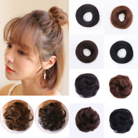 Thick Curly Messy Bun Hair Piece Scrunchie 100% Natural Hair Extensions Human