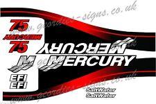 Mercury 75 moteur hors-bord moteur Kit De Autocollant Stickers