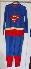 New S OR M Navy SuperMan Fleece All-in-one Suit one-piece Yellow Father's Day