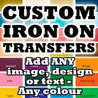 Custom Iron On T Shirt Transfers Your Image Photo Design Personalised Hen P&P