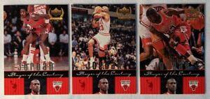 1999-00 UD Century Legends Michael Jordan 'Player of the Century' Lot x3 Inserts