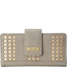 BUXTON Hex Laser Cut Medium Metropolitan Wallet,  Color Quarry, Ladies Wallet
