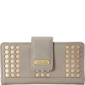 Wallet, Ladies, BUXTON Hex Laser Cut Medium Metropolitan Wallet, Color Quarry