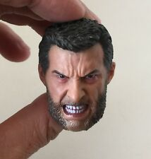 Custom Angry Logan Wolverine 1/6 Head Sculpt for Eleven Hot Toys Body