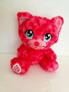 Build a Bear Buddies Sweet Scent Leopard Pink Cat Plush Stuffed Animal Small