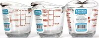 3 Anchor Hocking 8 oz Glass Easy Read Tempered Measuring Cup Bake Microwave Safe