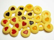 20 Mixed Dollhouse Miniature Jam Dot Cookies* Doll Food Bakery Cookie Biscuit
