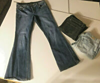 Lot of 3 Sz 6 women's LONDON JEAN stretch FLARE LEG denim jeans