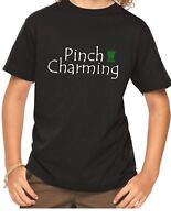 Youth Pinch Charming Shirt Funny T-Shirt Lucky Tee For Boys Saint Patrick's Day