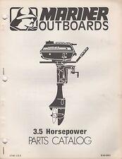 1977 MARINER OUTBOARD 3.5 HP PARTS MANUAL M-90-83001(381)