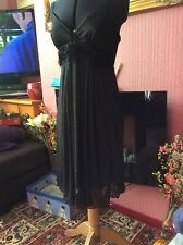 NEW WITH TAGS DOROTHY PERKINS PARTY DRESS SIZE 12 PETITE BLACK GLITTER STRETCHY