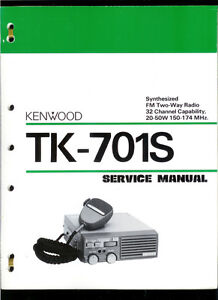 Rare Factory Kenwood TK 701S FM 2 Way Radio Transceiver Owner's Service Manual