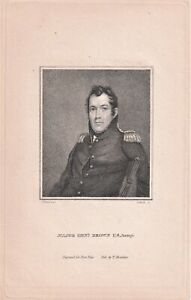 MAJOR GENERAL JACOB JENNINGS BROWN stipple engraving by Gimbrede 1816