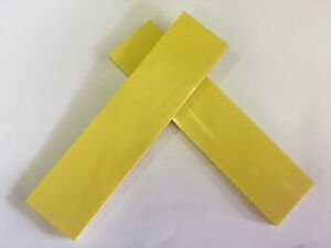 """G10: Yellow 1/8""""   6"""" x 1.5""""   Scales for Wood Working, Knife Making, Bush Craft"""