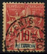 Reunion 1900-5 SG#51, 10c Rosso Rosa Usato #D49715