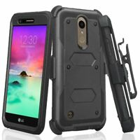 For LG L413/LG 413DL Holster Cover Case Built-in Screen Protector Belt Cli