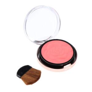 Natural Matte Face Blush Beauty Comestics Cheek Blusher with Mirror Brush