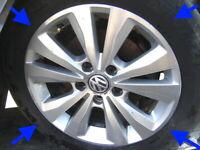"VW Golf MK7 PRISTINE DIAMOND CUT 16"" Toronto Alloy Wheels tyres original genuine"