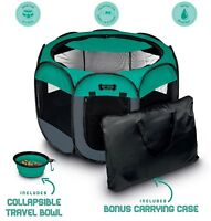 Portable Foldable Pet Playpen + Carrying Case Collapsible Travel