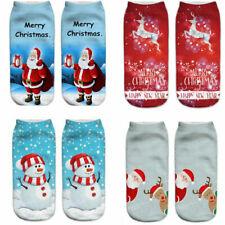 Christmas Socks Cotton Stockings Cartoon Women Santa Claus Xmas Gift Girls Boys