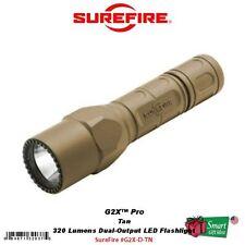 SureFire G2X Pro, Tan, 320 Lumens Dual-Output LED Flashlight, Nitrolon #G2X-D-TN