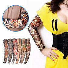 6X Temporary Nylon Elastic Fake Tattoo Sleeve Arm Stockings One Size Fits Most