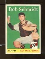 1958 Topps #468 Bob Schmidt San Francisco Giants VGEX+ (SR10)