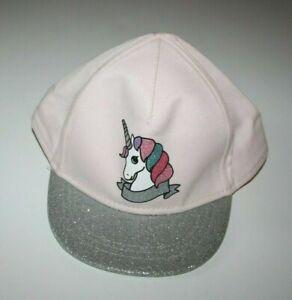NWT H&M Girls Rainbow Unicorn hat cap Size 1-4 years Pink Glitter New