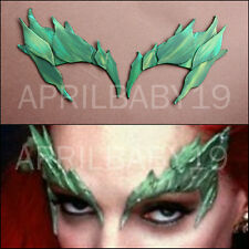 Poison Ivy Leaves Eyebrow Eye mask GREENs NO GLITTER Comic Con Cosplay Fairy Elf