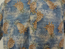 Reyn Spooner Hawaiian Shirt Alfred Shaheen Large Pineapple Tropical Floral SS