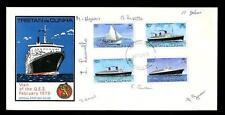 TRISTAN DA CUNHA 1979 SHIP QE2 SIGNED ILLUSTRATED FDC