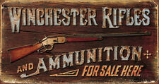 Winchester - Rifles & Ammo Tin Sign - 16x8.5