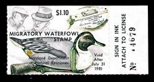 1980 Maryland Duck Stamp - Md-7- Mognh - Vf/Xf (Esp Stock)