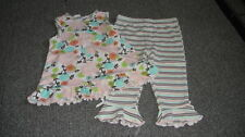 BOUTIQUE ICKY BABY  12M 12 MONTHS FLORAL TOP PANT SET