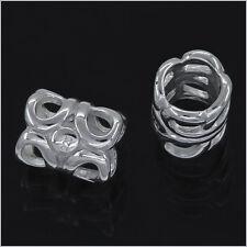 Sterling Silver Filigree Tube Spacer European Charm Bead 1PC #97206