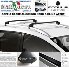 Per VOLKSWAGEN VW CROSS UP 13-con tetto aperto parapetto BARRE PORTATUTTO IN ALLUMINIO NERO